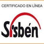 Imprimir certificado del SISBEN