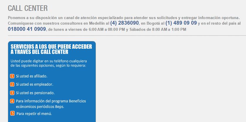 Colpensiones Direcci 243 N Y Tel 233 Fono Info De Contacto